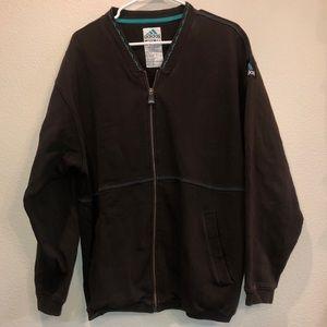 Vintage adidas equipment brown zip up jacket large